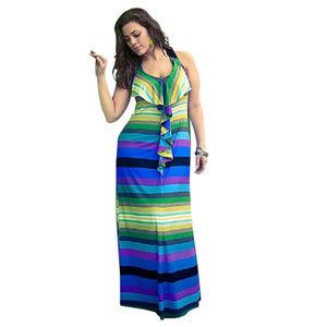 Lane Bryant multi color ruffle flirty maxi dress